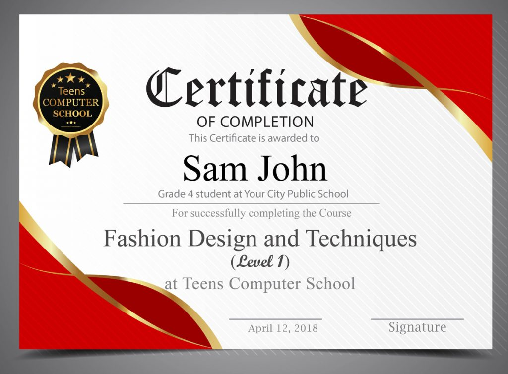 Fashion Design And Techniques Course For Kids And Teens Saint John New Brunswick